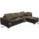 Кожаный диван МЭ-355